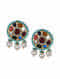 Multicolored Navratan Beaded Earrings With Pearls