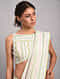 Green-Pink Striped Chanderi Silk Saree