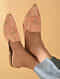 Beige Handcrafted Mules