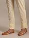 Beige Tie-Up Cotton Pants