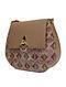 Beige Handcrafted Genuine Leather Sling Bag