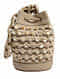 Ivory Handcrafted Genuine Leather Bucket Bag