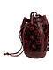 Maroon Handcrafted Genuine Leather Bucket Bag