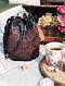 Black Handcrafted Genuine Leather Bucket Bag