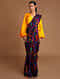 Purple Chanderi Saree With Patch Work