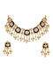 Blue Meenakari and Kundan Necklace with Earrings