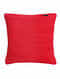 Red Handmade Wool Cushion Covers (Set of 2) (16in x 16in)