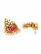 Red Gold Plated Sterling Silver Earrings with Pearls