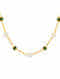 Green Onyx and Pearl Gold Plated Sterling Silver Necklace