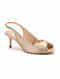Light Gold Pink Handcrafted Genuine Leather Pencil Heels