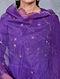 Asharfi Purple Embroidered Organza Dupatta