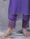 Bankuri Purple Embroidered Mul Pants