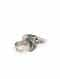 Silver Tone Tribal Adjustable Ring With Ghungroo