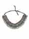Silver Tone Tribal Choker Necklace