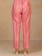 Pink Embroidered Silk Chanderi Palazzos
