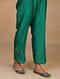 Green Embroidered Silk Chanderi Palazzos