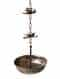 Matt Gold Iron Decorative Hanging With Lotus Chain (L - 8in, W - 8in, H - 46in)