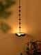 Matt Gold Iron Hanging Tealight Holder (L - 8.25in, W - 8.25in, H - 37in)