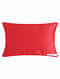 Red Hand Beaded And Lace Embroided Velvet Applique Cushion Cover (L - 14in, W - 20in)