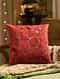 Burgundy Embroided Cushion Cover (L - 18in, W - 18in)