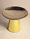 Gold and Nickel Pedestal Nut Bowls (Set Of 2) (H- 4.5in, Dia- 5in)