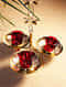 Gold and Red Regal Lotus Hanging Tealight Candle Holder (L- 12in, W- 12in, H- 27in)