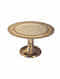 Silver and Ivory Mother Of Pearl Cake Stand (H- 7in, Dia- 12in)