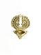 Brass Wall Lamp (L-5in, W-4in, H-7in)
