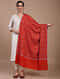 Red Sozni Embroidered Handwoven Pashmina Shawl