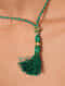 Gold Polki Necklace with Jade and Pearls