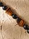 Black Brown Tiger Eye Agate Beaded Bracelet