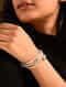 White Blue Crystal Turquoise Beaded Bracelet