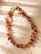 Multicolored Carnelian Garnet Topaz Beaded Necklace