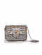 Silver Handcrafted Vegan Leather Clutch
