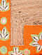 Orange Handcrafted Jute Clutch