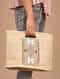 Beige Handcrafted Jute Hand Bag