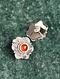Silver Earrings With Carnelain