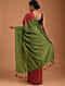 Red Handwoven Cotton Silk Saree