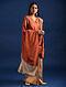Orange-Red Sozni Embroidered Pashmina Shawl