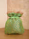 Green Handcrafted Brocade Potli