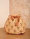 Yellow Orange Handcrafted Silk Potli