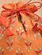 Orange Red Handcrafted Silk Potli