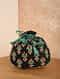 Black Green Handcrafted Silk Potli
