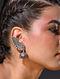 Tribal Kundan Silver Jhumki Earrings