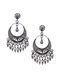 Tribal Silver Kundan Earrings