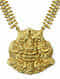 Gold-plated Tribal Sterling Silver Necklace with Deity Motif