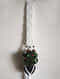 White Macrame Acrylic and Wood Pot Holder (46in x 5.6in)