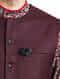 Maroon Woolen Sleeveless Jacket