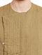 Beige Full Sleeve Slim Fit Linen Achkan Kurta