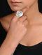 Rose Quartz Silver Adjustable Ring